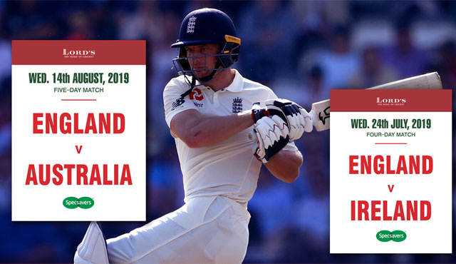 England's 2019 Tests at Lord's