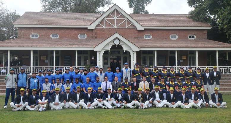 Multan Sultans and MCC squad photo in Pakistan