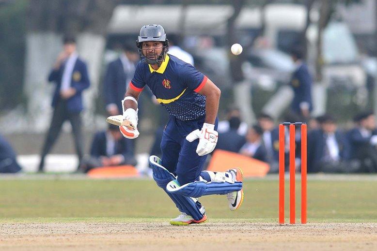 President Kumar Sangakkara batting for MCC v Multan Sultans in Pakistan