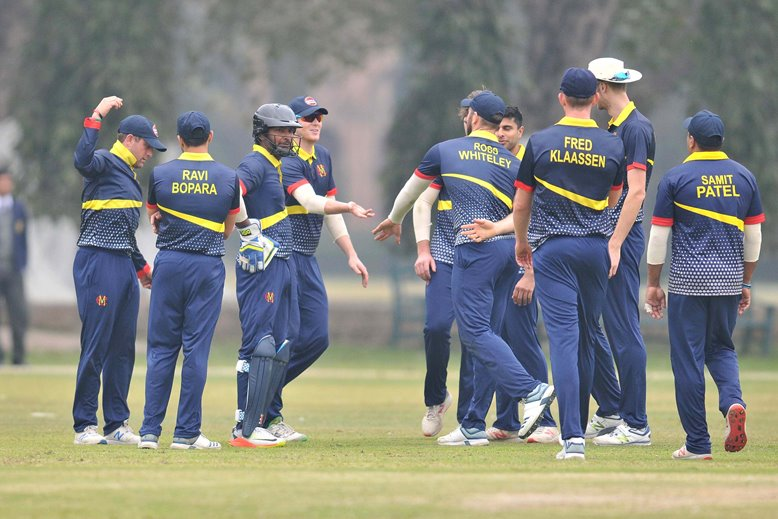 MCC celebrate another wicket in match v Multan Sultans