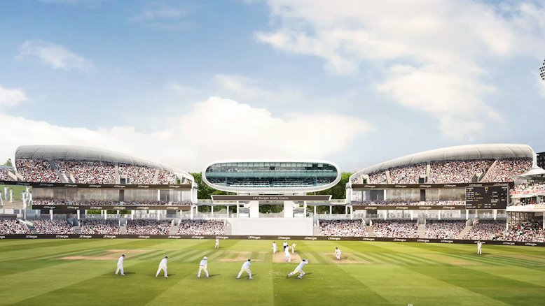 Designs of the new Compton and Edrich stands at Lord's.