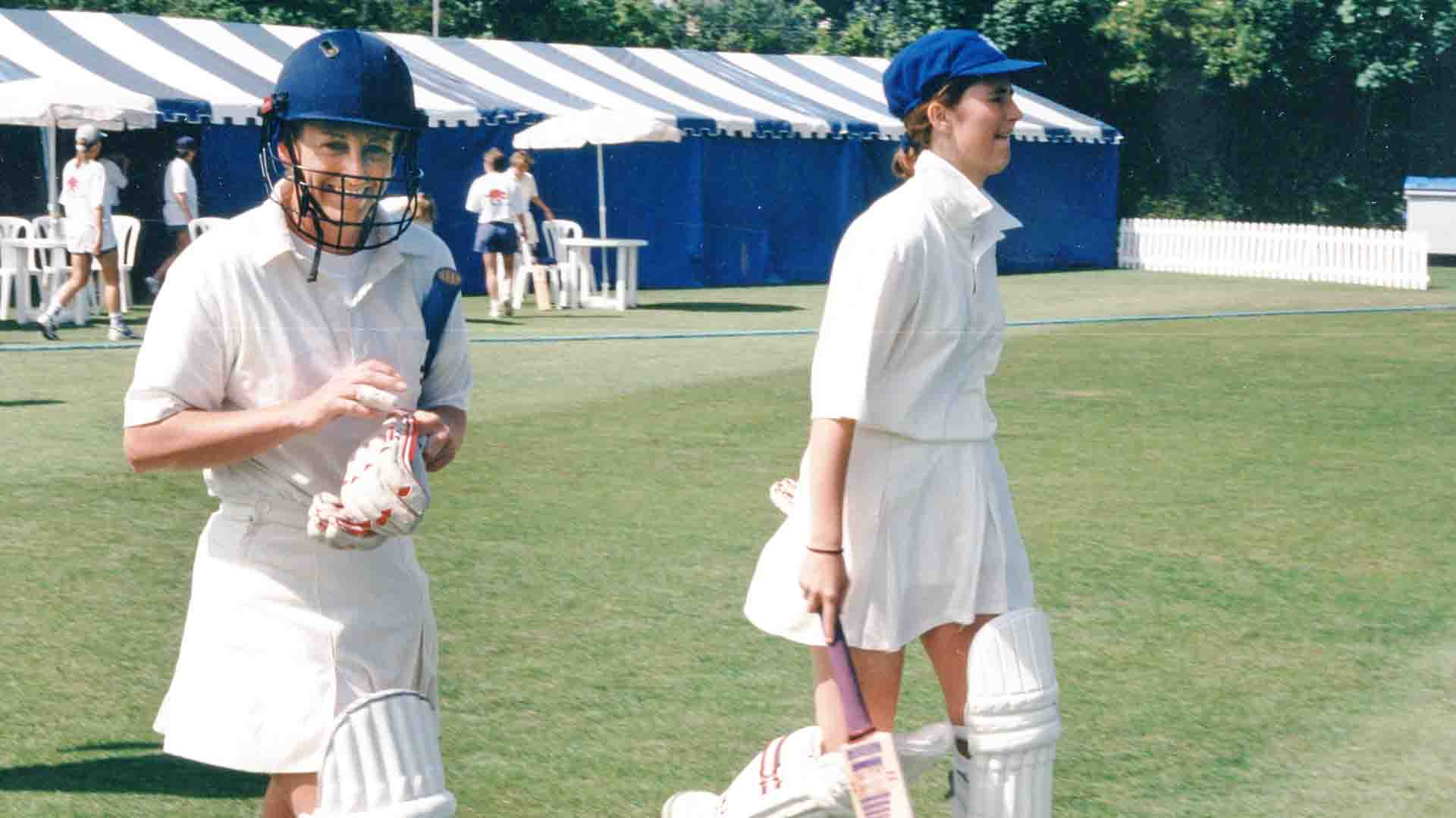 Janette Brittin's last and Charlotte Edward's debut Test England Vs. New Zealand, Guildford 1996