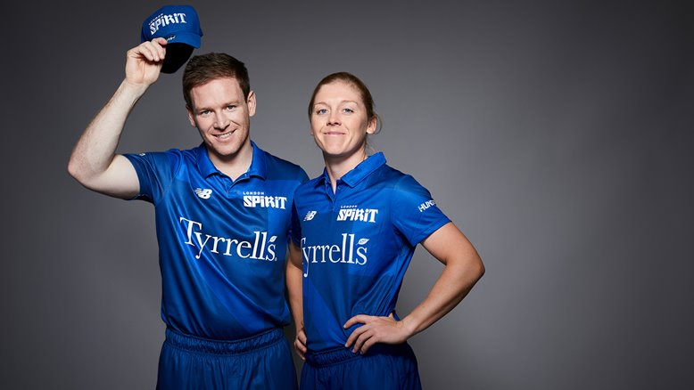 Eoin Morgan and Heather Knight - captains of London Spirit