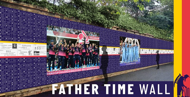 Father Time Wall at Lord's