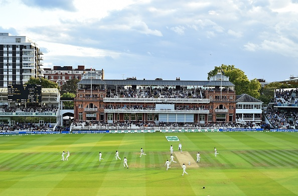 England celebrate a wicket on Day Five versus Australia at Lord's
