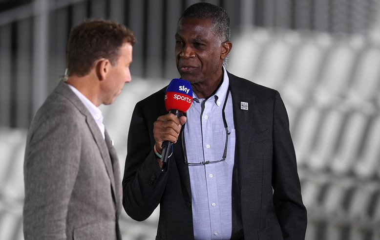 Michael Holding and Michael Atherton at Lord's