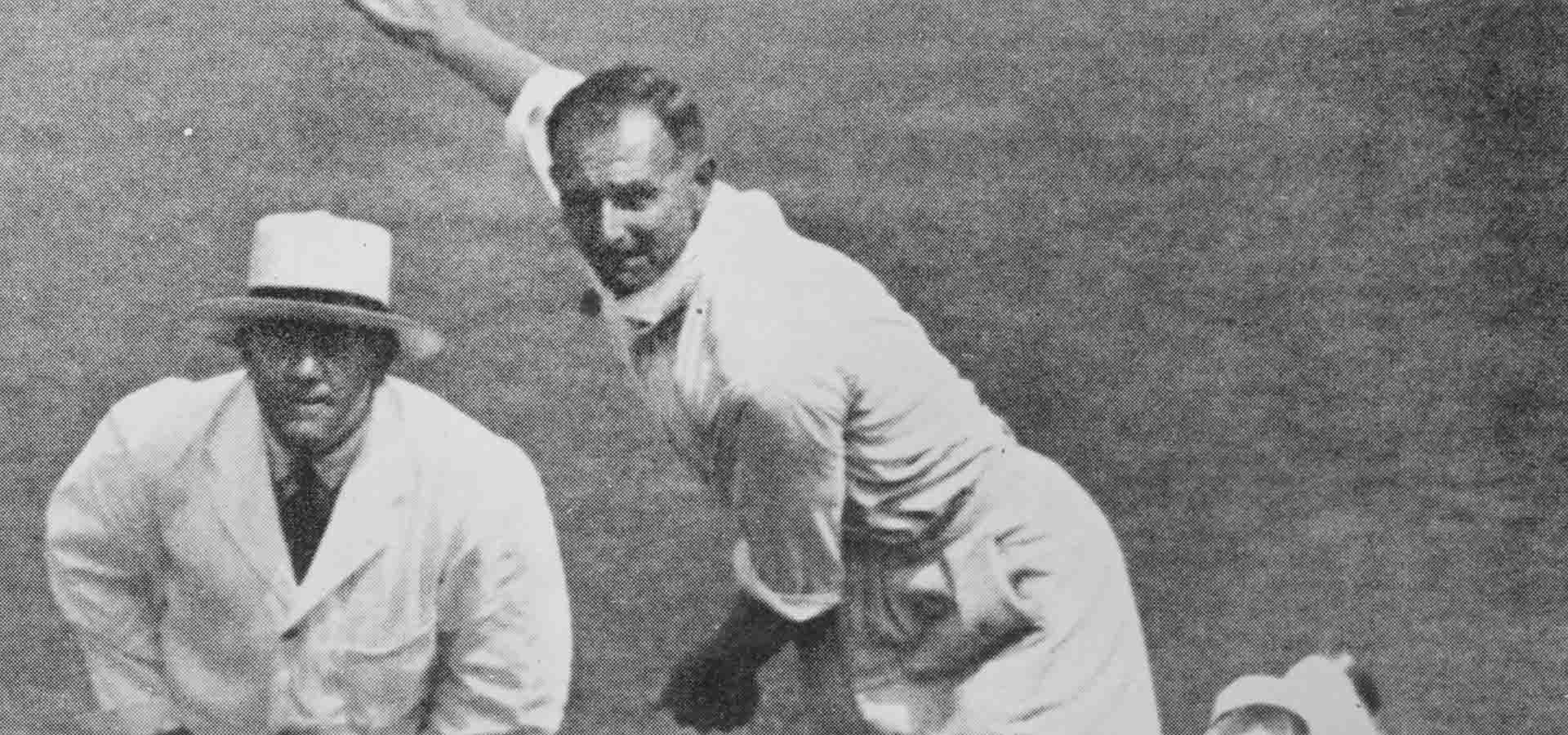 Hedley Verity bowling at Lord's