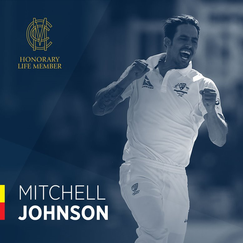 Mitchell Johnson celebrates a wicket at Lord's.