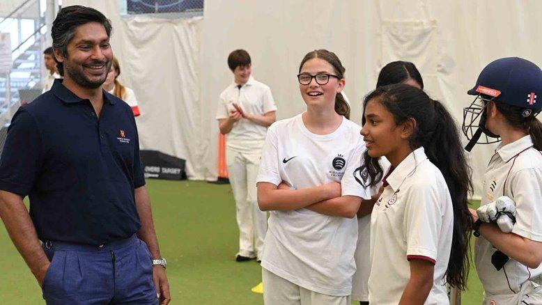 Kumar Sangakkara at the MCC Cricket Academyin 2019.