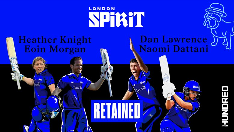 London Spirit players who have been retained