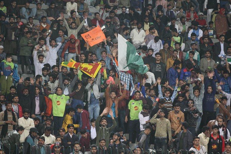 Pakistan fans attend MCC match v Lahore Qalandars