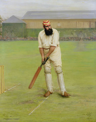 A painting of W.G. Grace