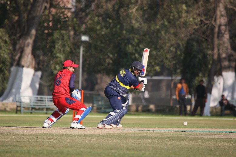 Samit Patel batting for MCC v Northern in Pakistan