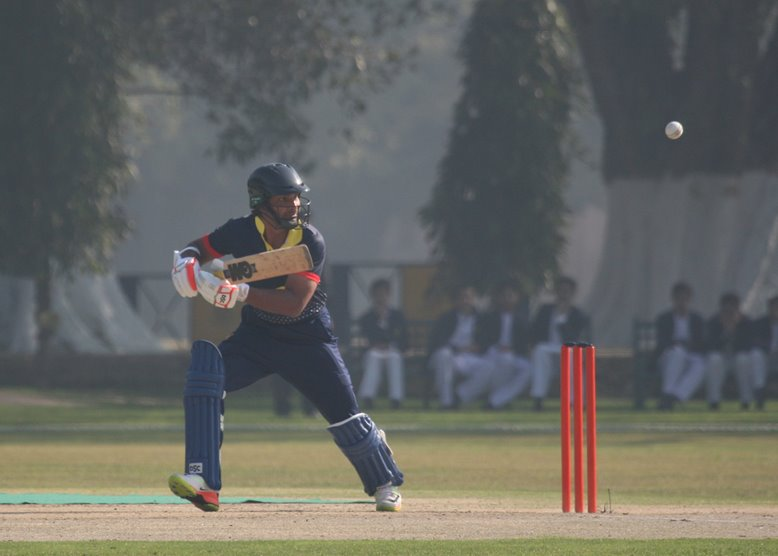 Kumar Sangakkara batting for MCC v Pakistan Shaheens