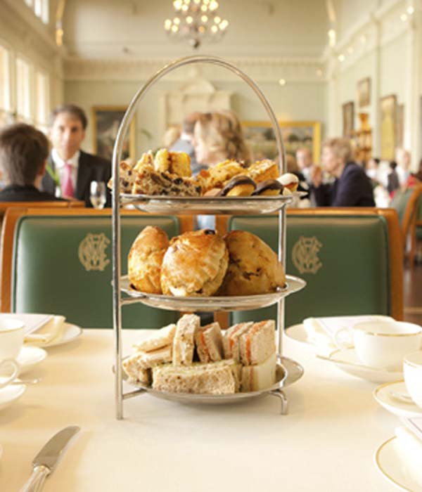 Traditional Afternoon Tea in the iconic surroundings of the Long Room has become a fixture at Lord's