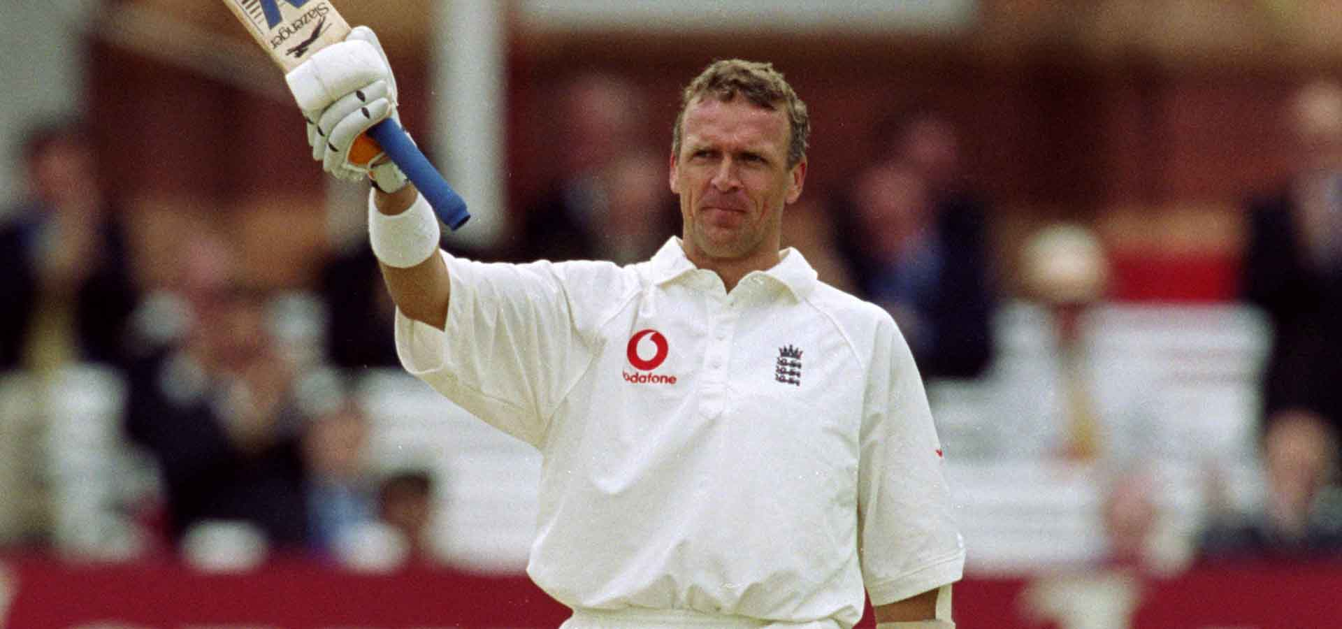 Alec Stewart scores a century at Lord's