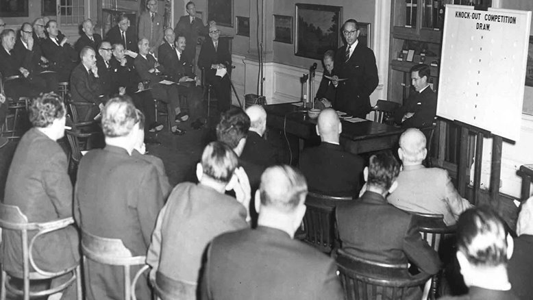 1961 Cricket Enquiry in the Long Room